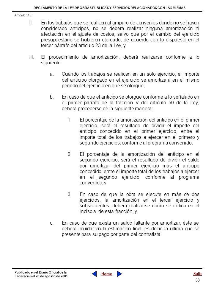 Artículo 113.