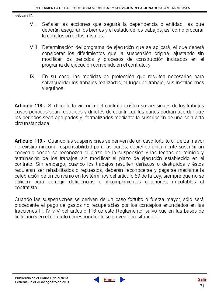 Artículo 117.