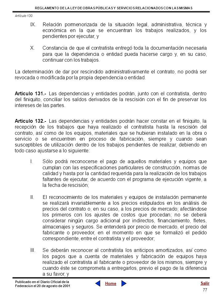 Artículo 130.