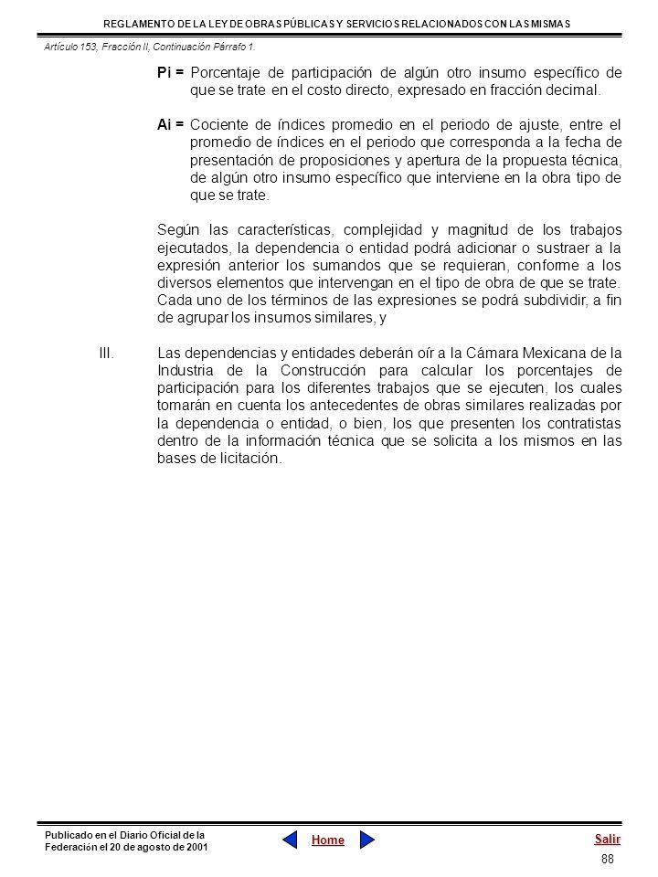 Artículo 153, Fracción II, Continuación Párrafo 1.