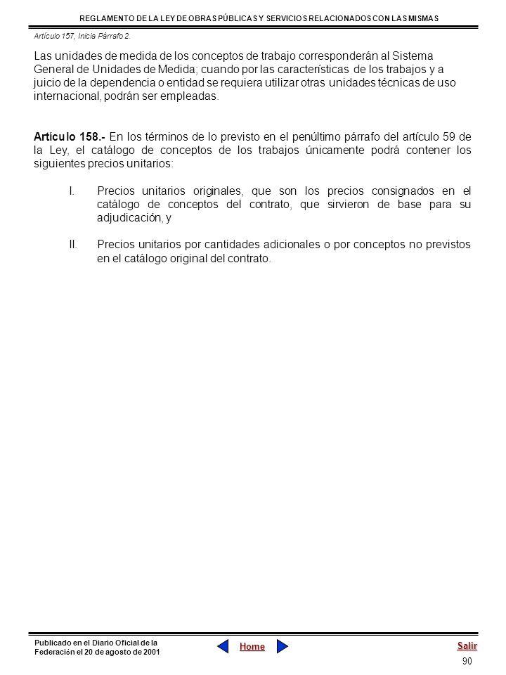 Artículo 157, Inicia Párrafo 2.