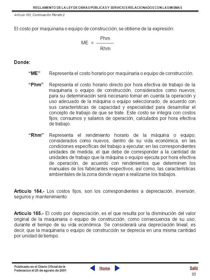 Artículo 163, Continuación Párrafo 2.