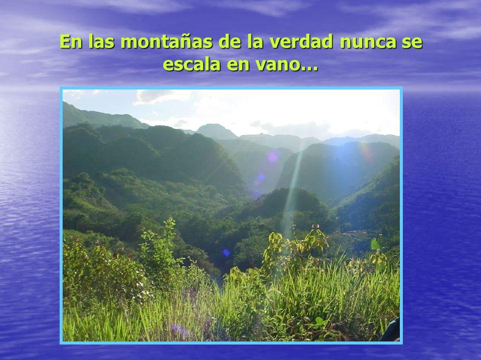 En las montañas de la verdad nunca se escala en vano...