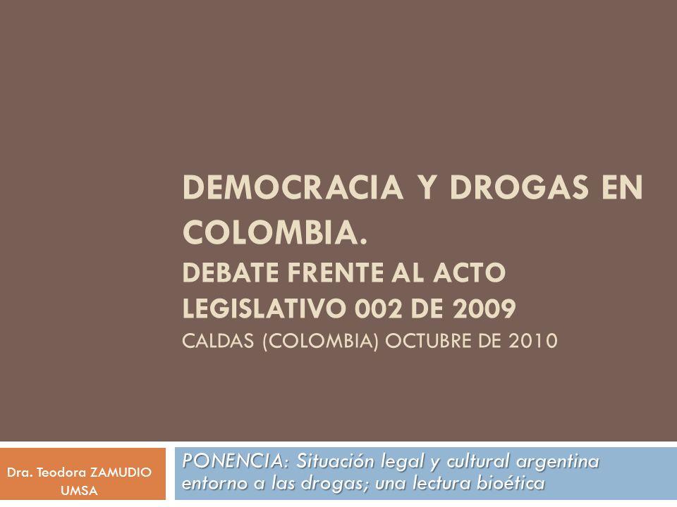 Democracia y Drogas en Colombia