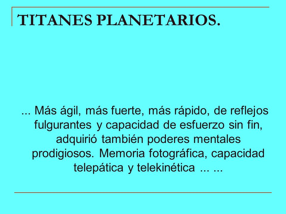 TITANES PLANETARIOS.