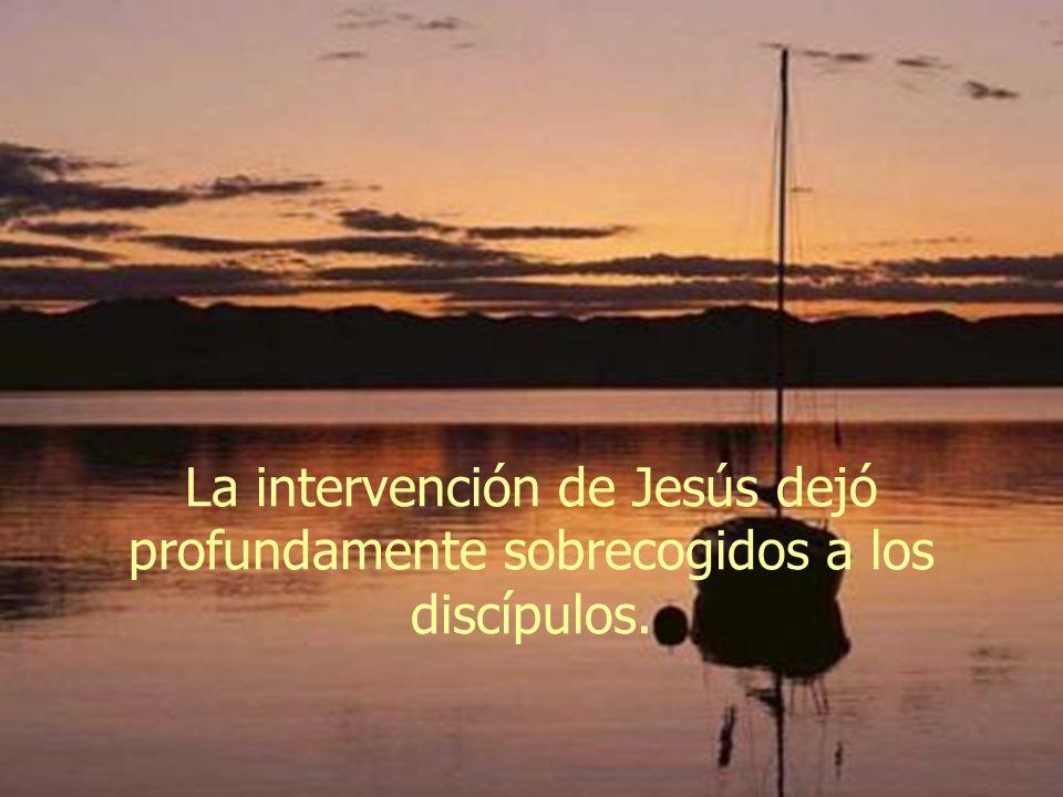 La intervención de Jesús dejó profundamente sobrecogidos a los discípulos.