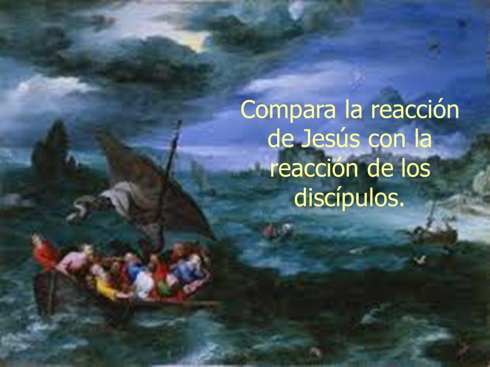 Compara la reacción de Jesús con la reacción de los discípulos.