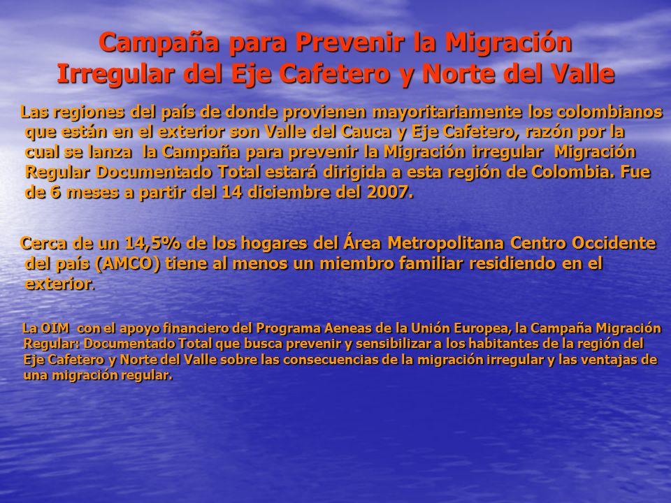 Campaña para Prevenir la Migración Irregular del Eje Cafetero y Norte del Valle