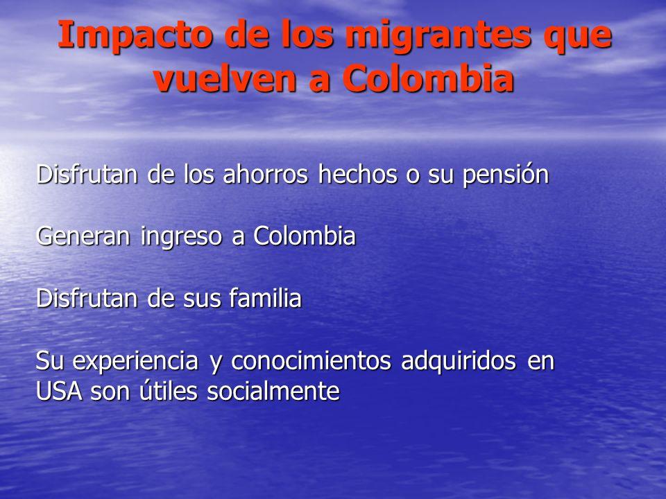 Impacto de los migrantes que vuelven a Colombia