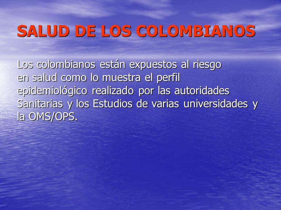 SALUD DE LOS COLOMBIANOS