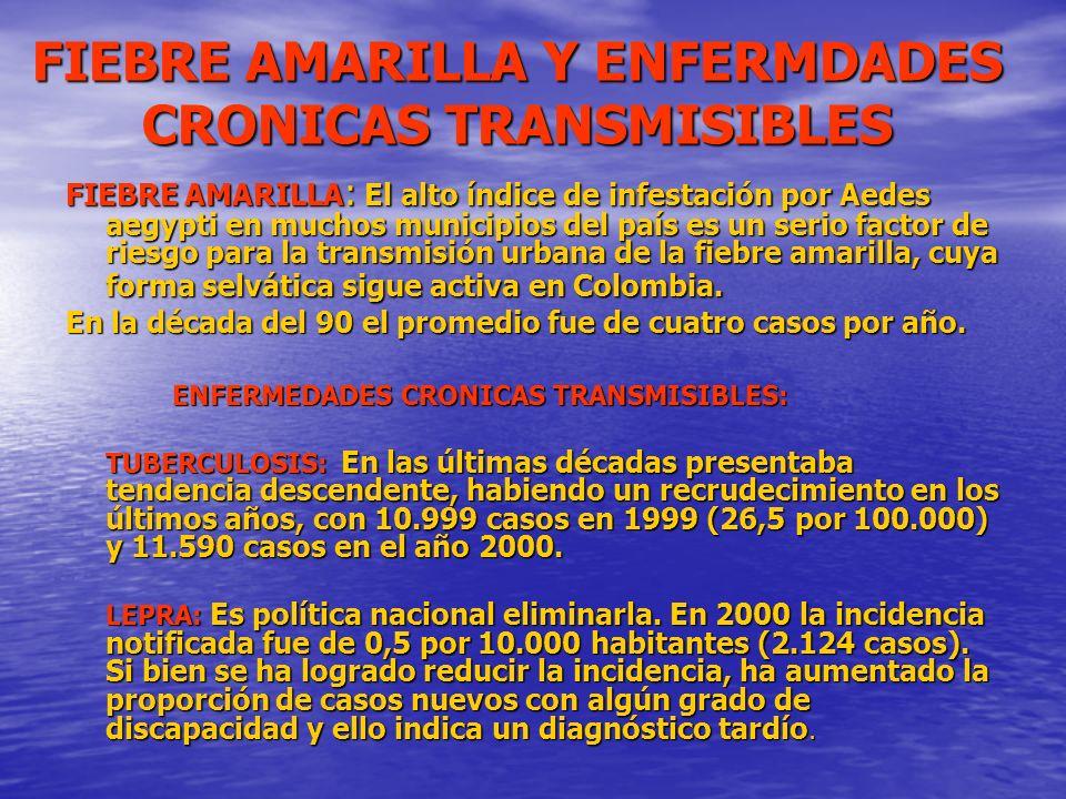 FIEBRE AMARILLA Y ENFERMDADES CRONICAS TRANSMISIBLES