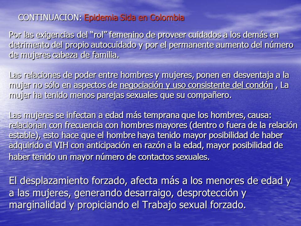 CONTINUACION: Epidemia Sida en Colombia