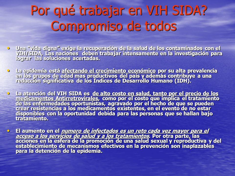 Por qué trabajar en VIH SIDA Compromiso de todos