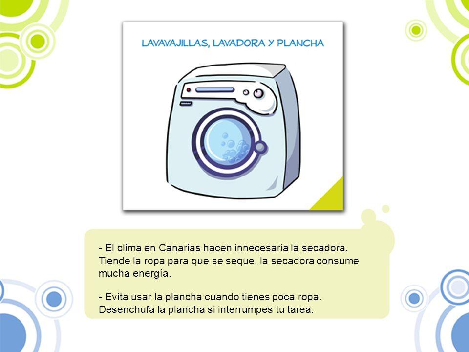 El clima en Canarias hacen innecesaria la secadora