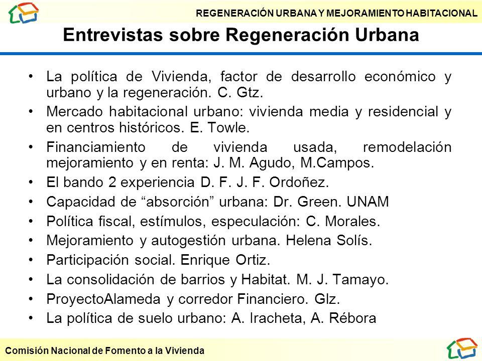 Entrevistas sobre Regeneración Urbana