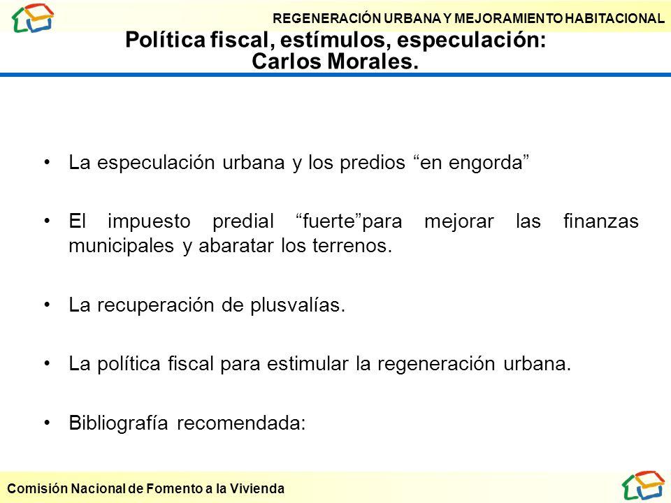 Política fiscal, estímulos, especulación: Carlos Morales.
