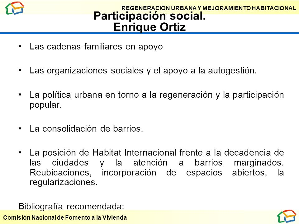 Participación social. Enrique Ortiz