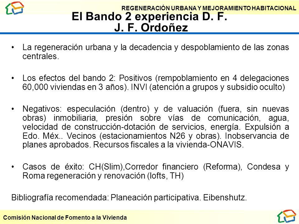 El Bando 2 experiencia D. F. J. F. Ordoñez
