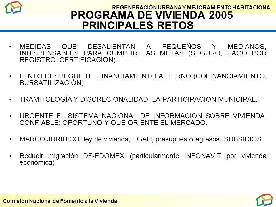 PROGRAMA DE VIVIENDA 2005 PRINCIPALES RETOS