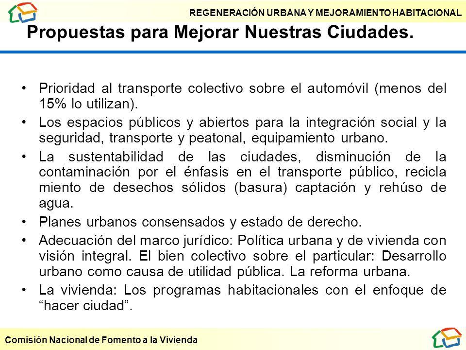 Propuestas para Mejorar Nuestras Ciudades.