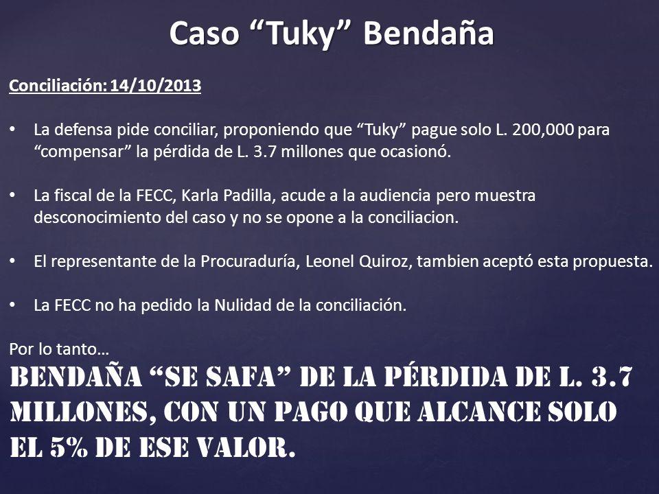 Caso Tuky Bendaña Conciliación: 14/10/2013.