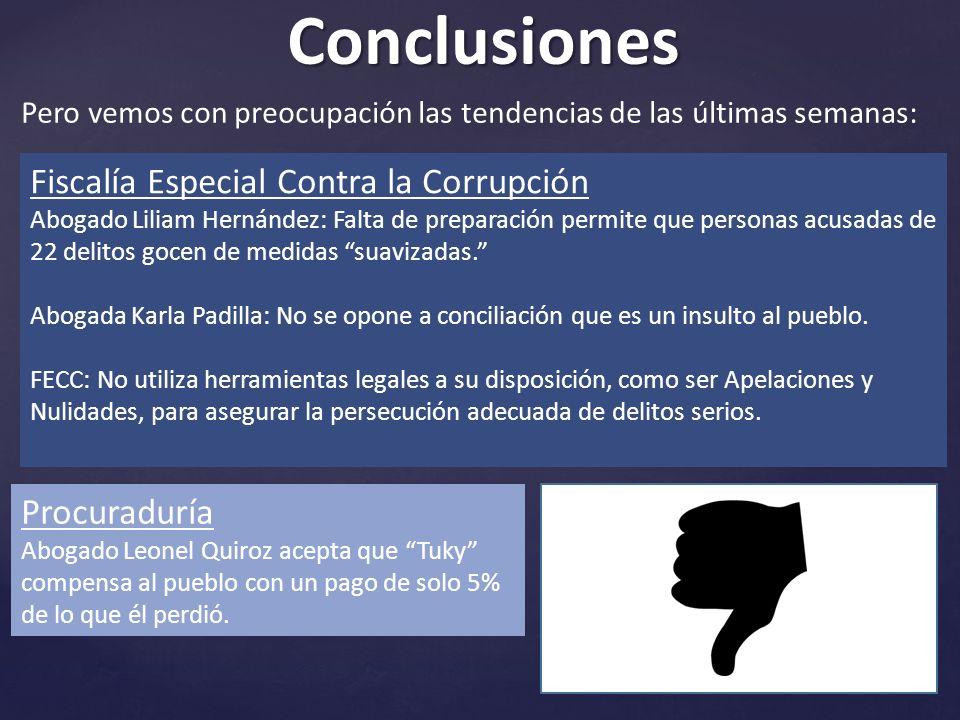 Conclusiones Fiscalía Especial Contra la Corrupción Procuraduría