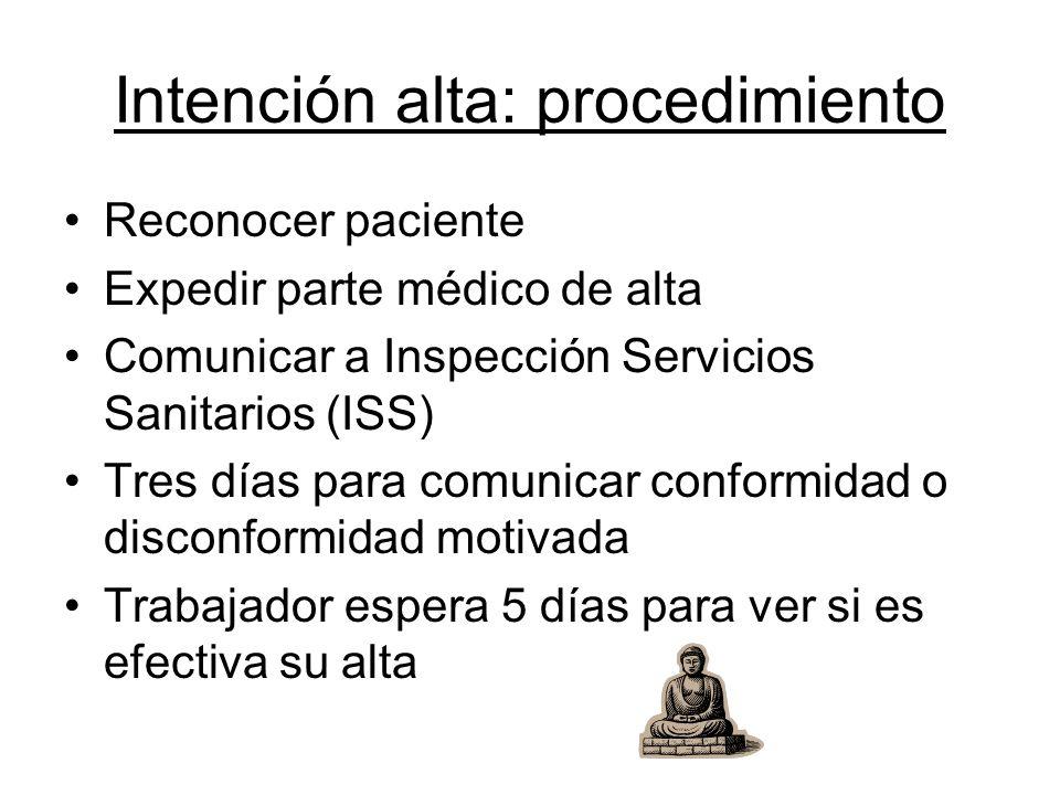 Intención alta: procedimiento