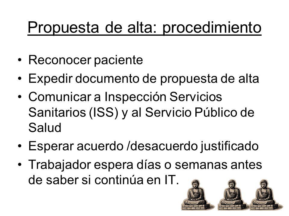 Propuesta de alta: procedimiento