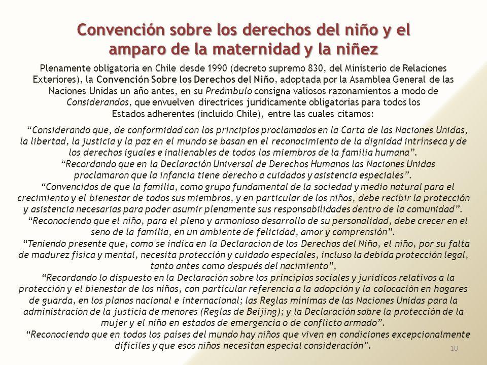 Convención sobre los derechos del niño y el