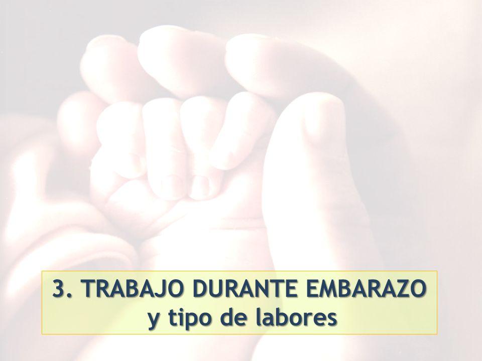 3. TRABAJO DURANTE EMBARAZO