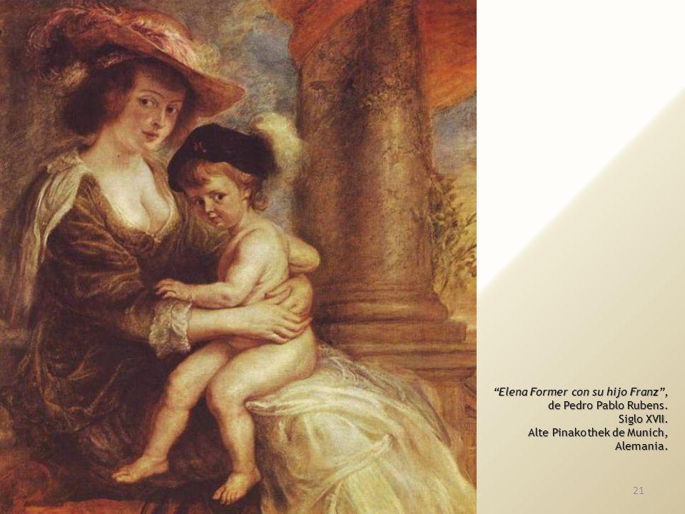 Elena Former con su hijo Franz ,