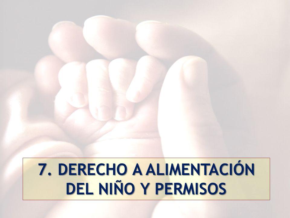 7. DERECHO A ALIMENTACIÓN