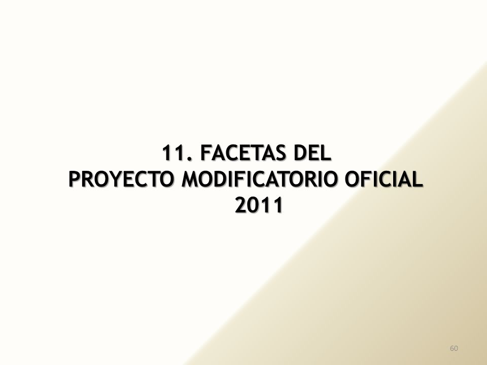 PROYECTO MODIFICATORIO OFICIAL 2011
