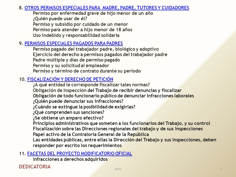 8. OTROS PERMISOS ESPECIALES PARA MADRE, PADRE, TUTORES Y CUIDADORES