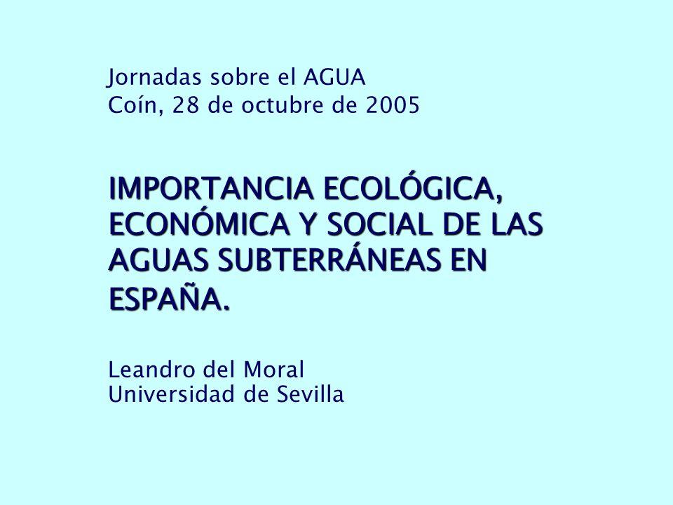 Jornadas sobre el AGUA Coín, 28 de octubre de 2005