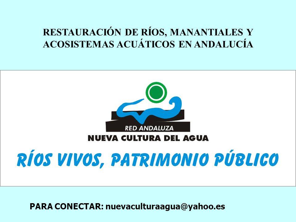 RESTAURACIÓN DE RÍOS, MANANTIALES Y ACOSISTEMAS ACUÁTICOS EN ANDALUCÍA
