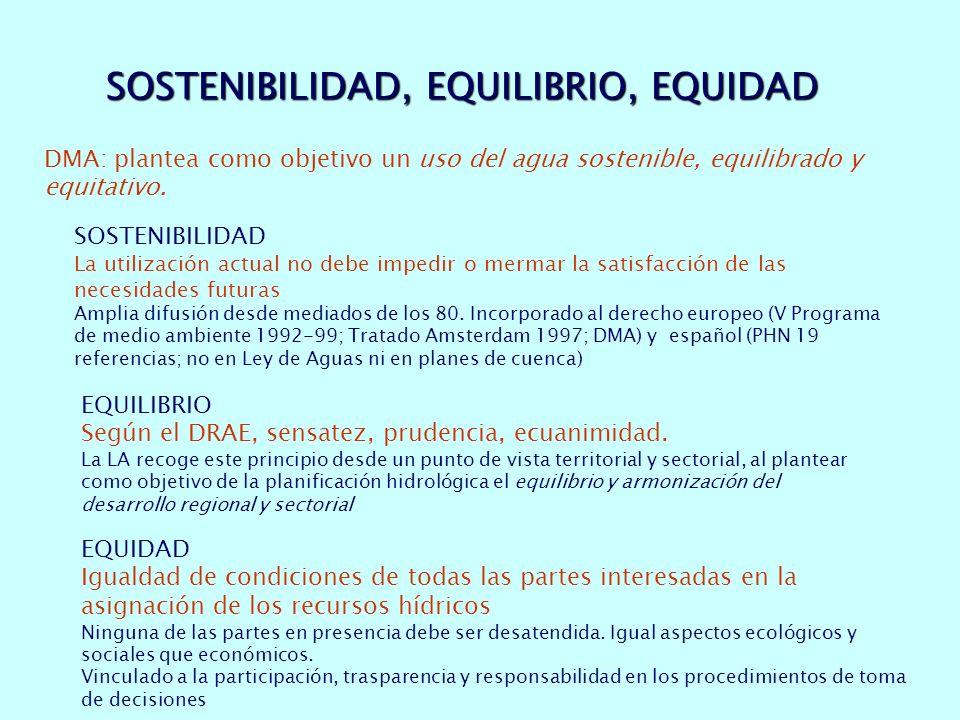SOSTENIBILIDAD, EQUILIBRIO, EQUIDAD