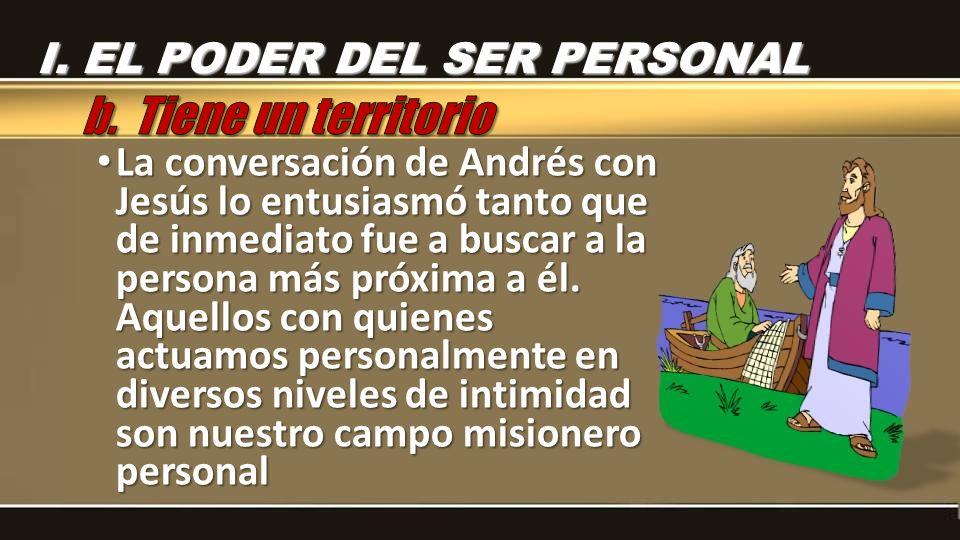b. Tiene un territorio I. EL PODER DEL SER PERSONAL
