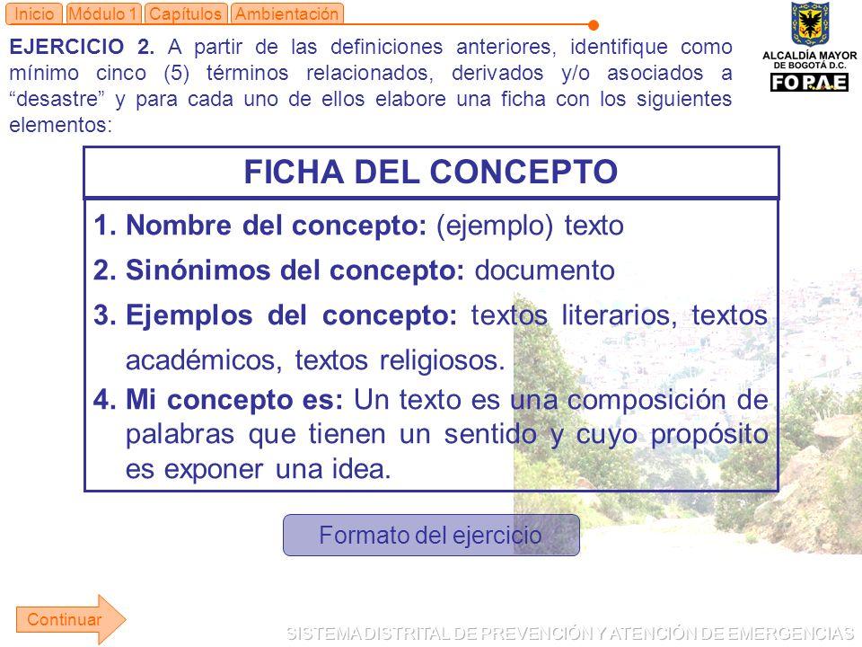 FICHA DEL CONCEPTO Nombre del concepto: (ejemplo) texto