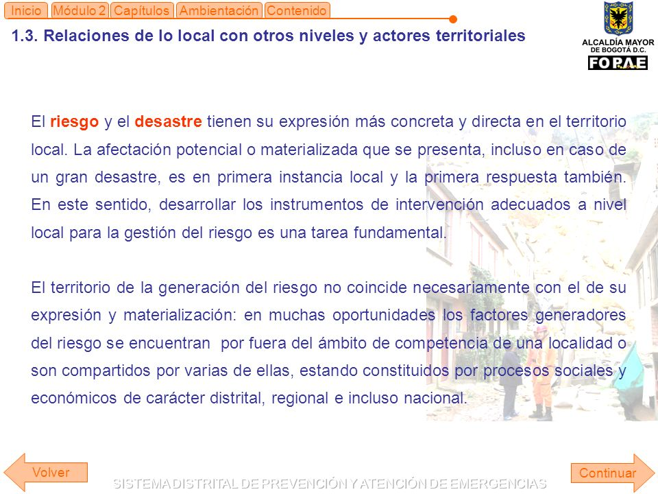 1.3. Relaciones de lo local con otros niveles y actores territoriales