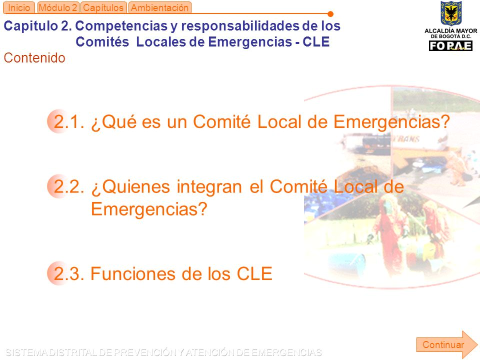 2.1. ¿Qué es un Comité Local de Emergencias