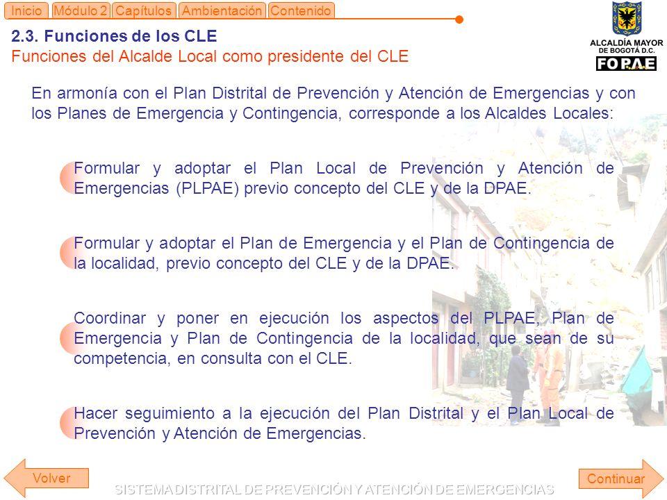 Funciones del Alcalde Local como presidente del CLE