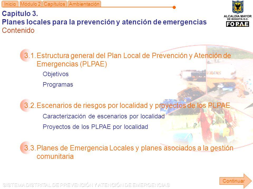 Planes locales para la prevención y atención de emergencias Contenido