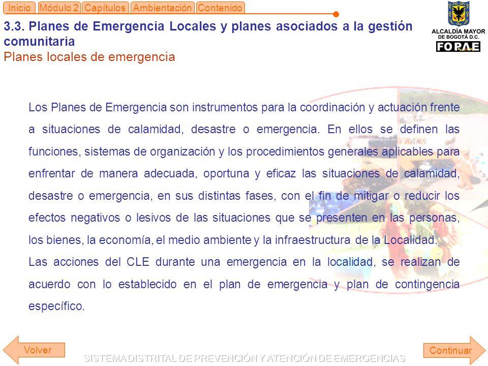 Planes locales de emergencia