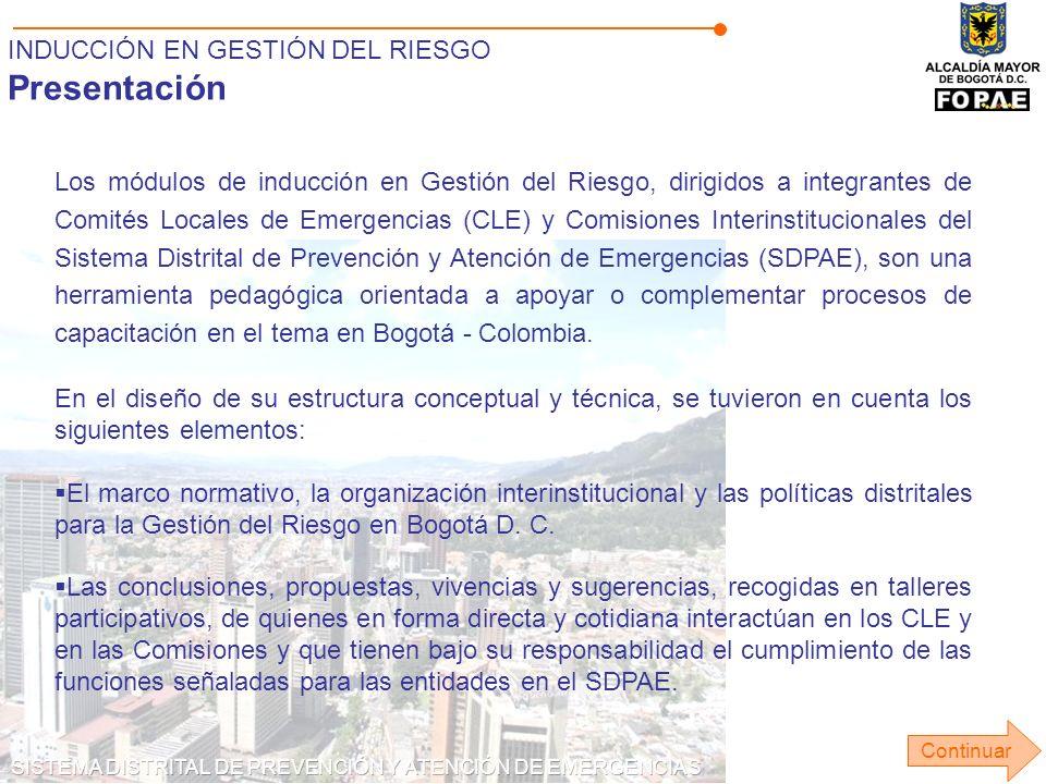 Presentación INDUCCIÓN EN GESTIÓN DEL RIESGO