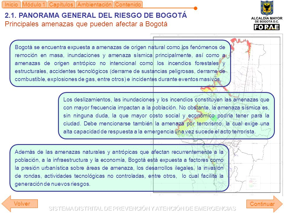 2.1. PANORAMA GENERAL DEL RIESGO DE BOGOTÁ