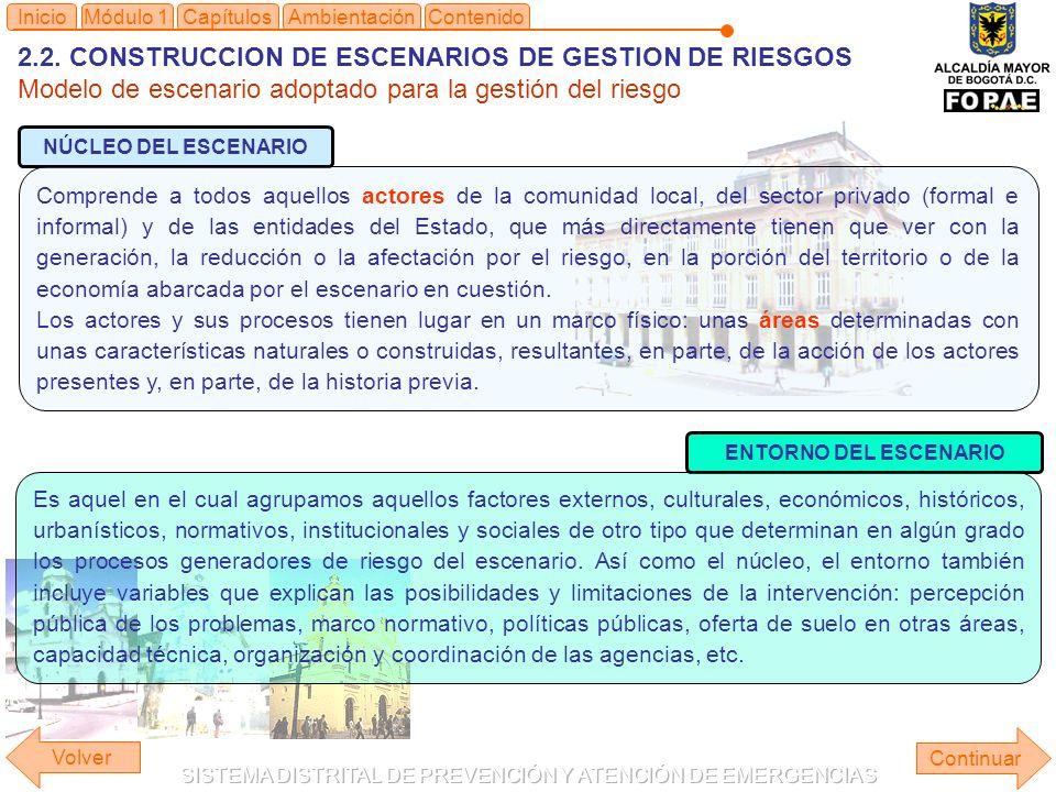 2.2. CONSTRUCCION DE ESCENARIOS DE GESTION DE RIESGOS