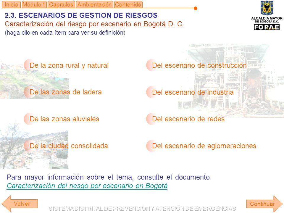 2.3. ESCENARIOS DE GESTION DE RIESGOS