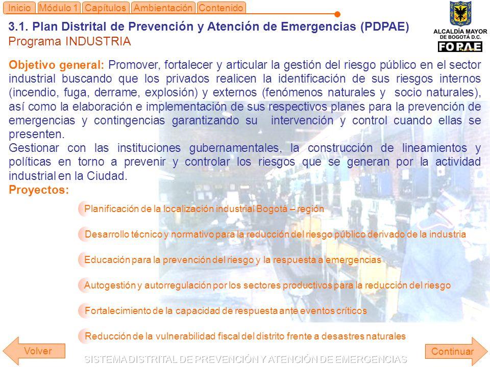 3.1. Plan Distrital de Prevención y Atención de Emergencias (PDPAE)