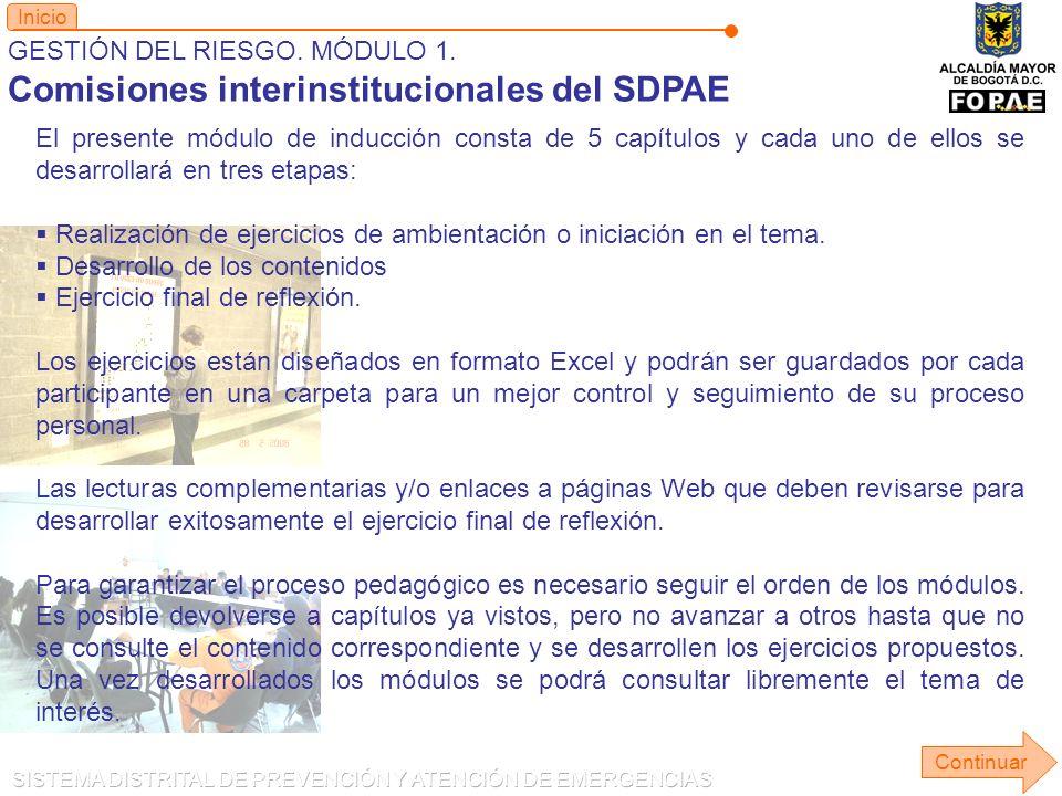 Comisiones interinstitucionales del SDPAE